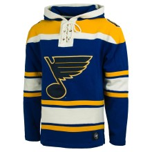St. Louis Blues NHL '47 Heavyweight Jersey Lacer Hoodie - Gold trim