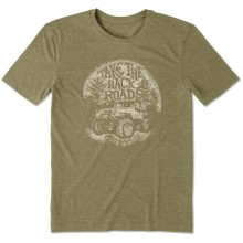 Life is Good Men's Take The Back Road Cool Tee - Fatigue Green