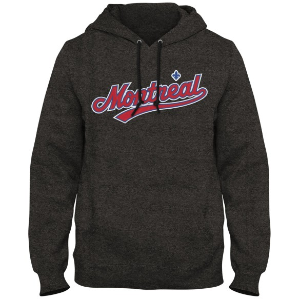 Montreal Expos MLB Express Twill Logo Hoodie Road - Twisted Charcoal