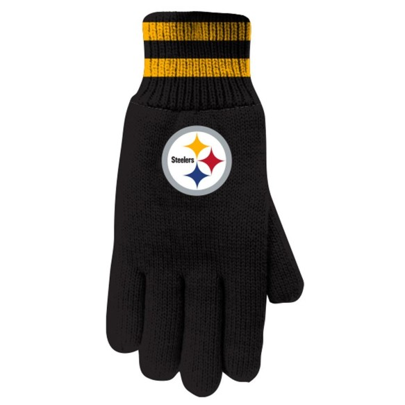 Pittsburgh Steelers NFL Insulated Thermal Gloves - Black