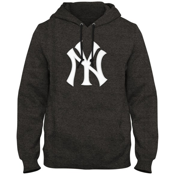 New York Yankees MLB Express Twill Logo Hoodie - Twisted Charcoal