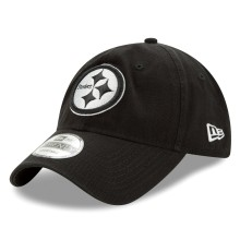 Pittsburgh Steelers NFL New Era Core Classic Black Relaxed Fit 9TWENTY Cap  | Adjustable