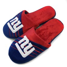 New York Giants NFL Men's Big Logo Stripe Slipper