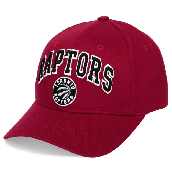 Toronto Raptors Arch Cap - Red | Adjustable