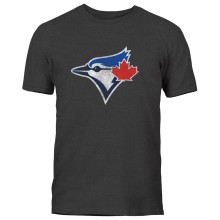 Toronto Blue Jays Distressed Logo T-Shirt (Heather Charcoal)