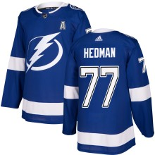 Victor Hedman Tampa Bay Lightning adidas NHL Authentic Pro Home Jersey - Pro Stitched