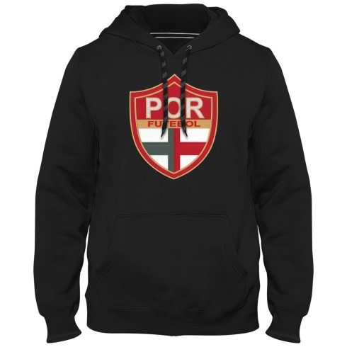 Portugal Futebol MyCountry Express Twill Logo Hoodie - Black