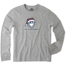 Life is Good Men's Life is Merry Good Long Sleeve Vintage Crusher Tee