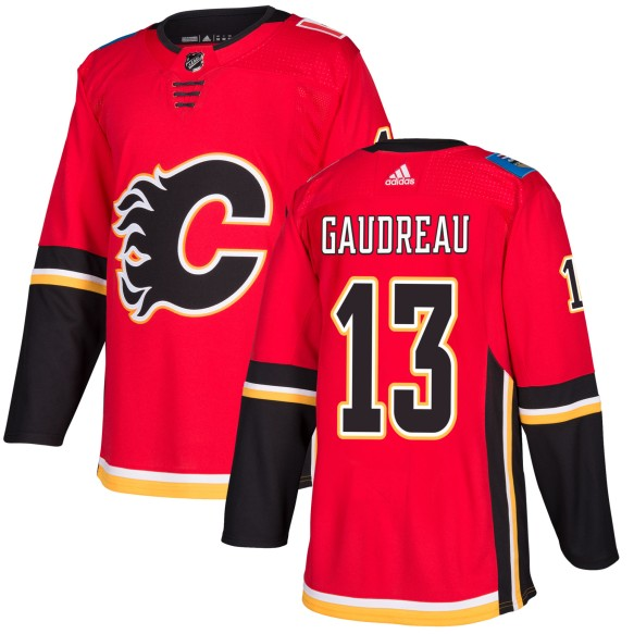 Johnny Gaudreau Calgary Flames adidas NHL Authentic Pro Home Jersey - Pro Stitched