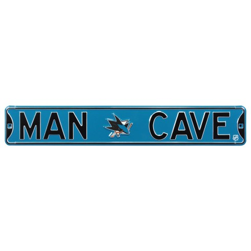 San Jose Sharks NHL MAN CAVE Authentic Steel Street Sign