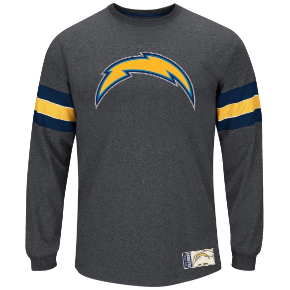 San Diego Chargers Spotlight III Long Sleeve NFL T-Shirt With Felt Applique