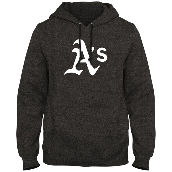 Oakland Athletics MLB Express Twill Logo Hoodie - Twisted Charcoal
