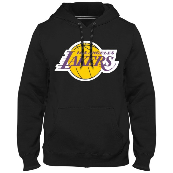 Los Angeles Lakers NBA Express Twill Logo Hoodie - Black