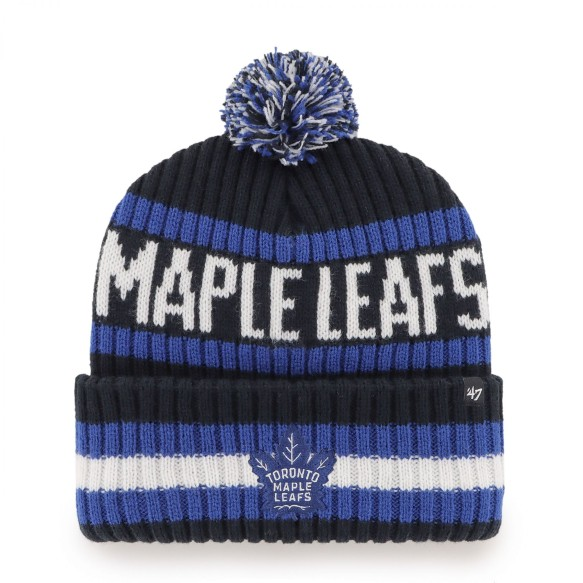 Toronto Maple Leafs NHL '47 Bering Cuff Pom Knit Hat