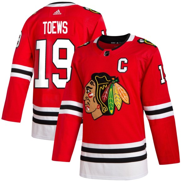 Jonathan Toews Chicago Blackhawks adidas NHL Authentic 2019-20 Pro Home Jersey - Pro Stitched