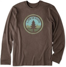 Life is Good Men's Tree Coin Long Sleeve Crusher Tee