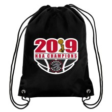 Toronto Raptors NBA 2019 Champions Drawstring Big Logo Bag