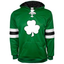 St. Patrick's Day Irish Clover Twill Skate Lace Athletic Hoodie