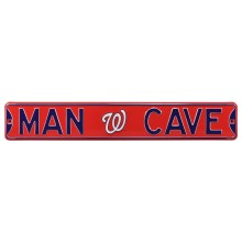 Washington Nationals MLB MAN CAVE Authentic Steel Street Sign