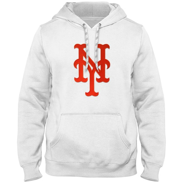 New York Mets MLB Express Twill Logo Hoodie - White
