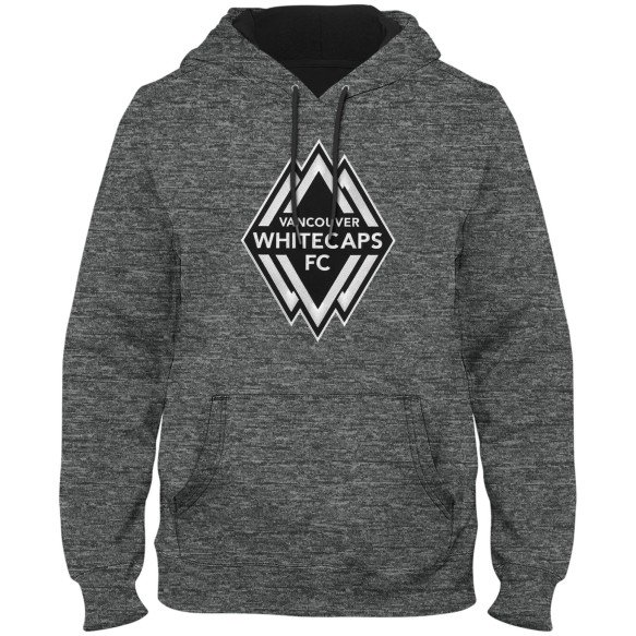 Vancouver Whitecaps FC MLS Shadow Poly Express Twill Logo Hoodie - Grey Melange