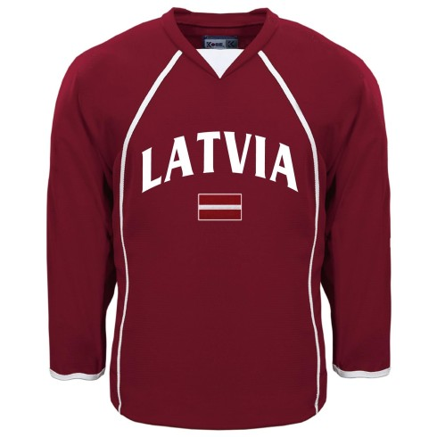 Latvia MyCountry Fan Hockey Jersey