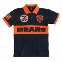 Chicago Bears NFL Wordmark Short Sleeve Rugby Polo