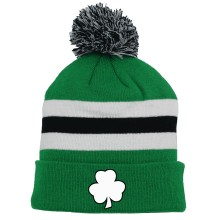 St. Patrick's Day Irish Clover Cuff Pom Knit Hat