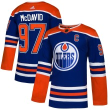 Connor McDavid Edmonton Oilers adidas NHL Authentic Pro Alternate Jersey - Premade
