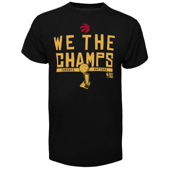 T-shirt '47 We The Champs NBA 2019 Champions des Raptors de Toronto - Noir