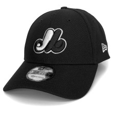 Montreal Expos New Era MLB 9FORTY Snap Cap - Black - Adjustable