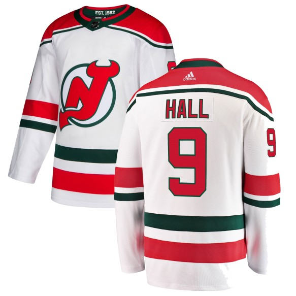 Taylor Hall New Jersey - Pro Stitched Devils adidas NHL Authentic Pro Alternate Jersey - Pro Stitched