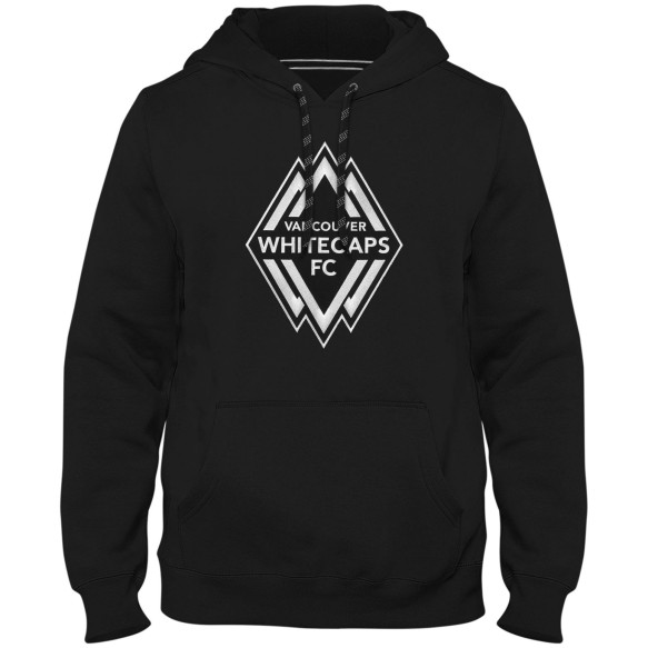 Vancouver Whitecaps FC MLS Shadow Express Twill Logo Hoodie - Black