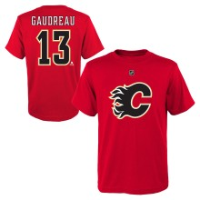 Calgary Flames Johnny Gaudreau NHL YOUTH Player Name & Number T-Shirt