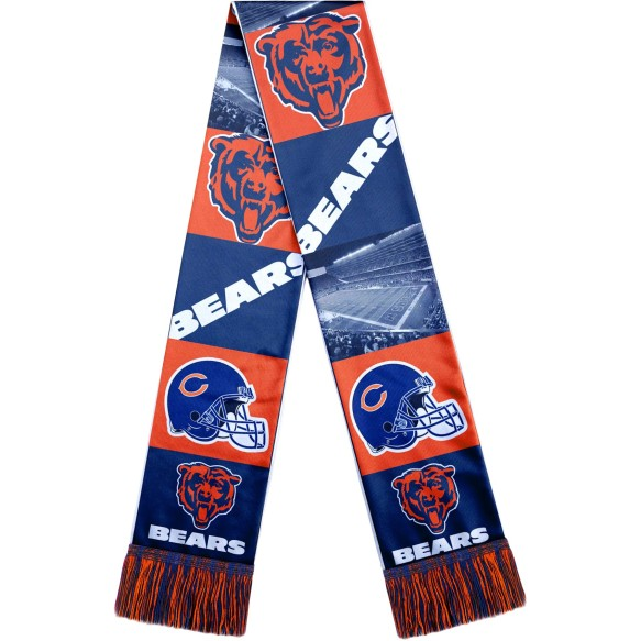 Chicago Bears NFL Sublimated Printed Logo Scarf