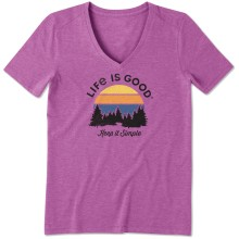 Life is Good Women's Keep It Simple Cool Vee - Happy Grape