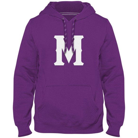 Montreal Throwback Express Twill Logo Hoodie - Purple