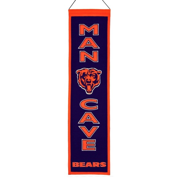 Chicago Bears NFL MAN CAVE Wool Banner