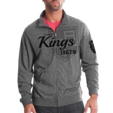 Los Angeles Kings Tried And True FX Full Zip Crew (Heather Charcoal)