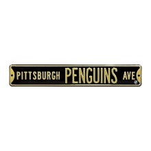 Pittsburgh Penguins NHL Authentic Steel Street Sign