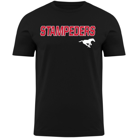 Calgary Stampeders CFL Twill applique Home Field T-Shirt - Black