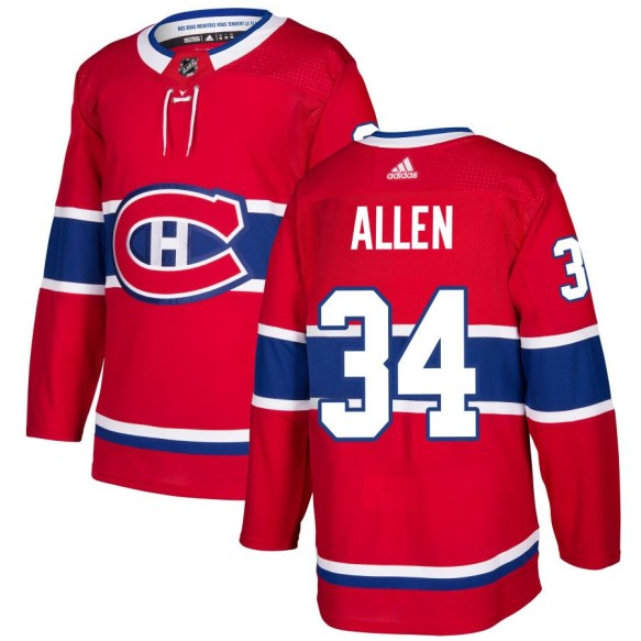 Josh Allen Montreal Canadiens adidas NHL Authentic Pro Home Jersey - Pro Stitched