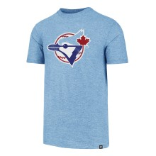 Toronto Blue Jays Cooperstown MLB '47 Distressed Print Tri-Blend T-Shirt