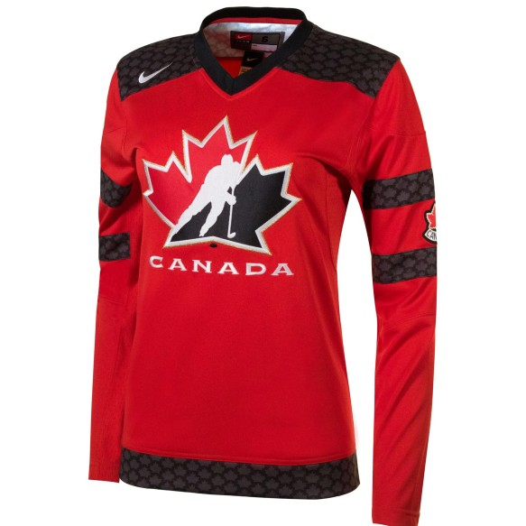 Team Canada IIHF Women's Fan 2018-19 Replica Red Hockey Jersey