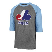 Montreal Expos MLB Imprint '47 Club Raglan 3/4 T-Shirt - Gray