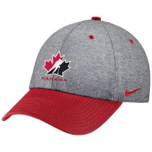 Team Canada IIHF Heritage86 Heathered Cotton Cap - Red | Adjustable