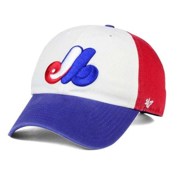Montreal Expos Cooperstown YOUTH Tri-Color '47 Clean Up Cap
