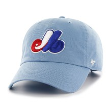 Montreal Expos Cooperstown Clean Up Cap - Baby Blue | Adjustable