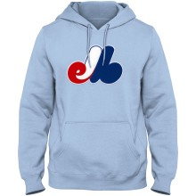 Montreal Expos Cooperstown Twill Logo Hoody (Baby Blue)