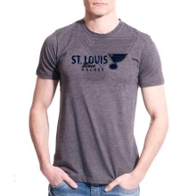 St. Louis Blues Cold Shoulder FX T-Shirt (Charcoal)